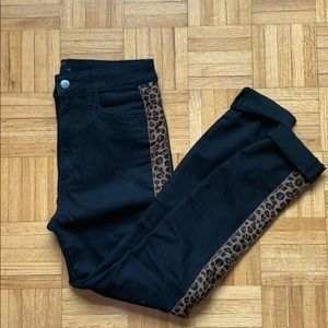 Joe Jeans high rise skinny cheetah stripe Size 27